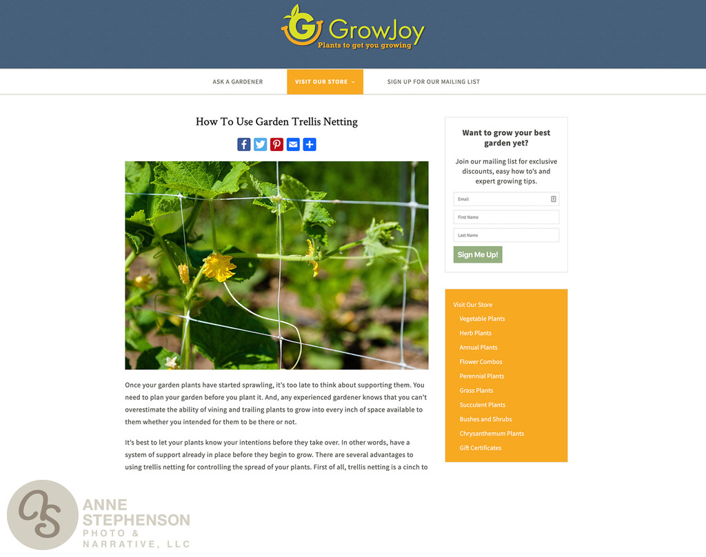 Grow Joy - Trellis Netting