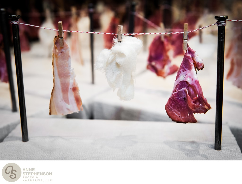 charcuterie on a mini clothesline