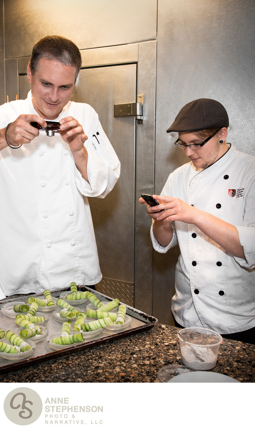 Chefs capture a moment with cell phones