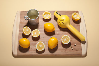 Meyer Lemon Juicing Frenzy