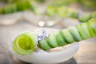 Cocktail amuse cucumber cigar
