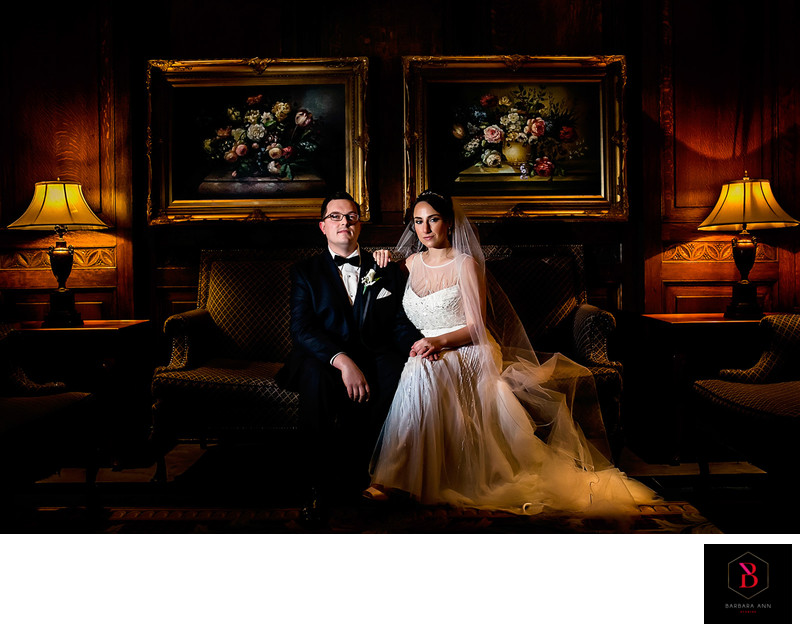 A wedding Portrait in the Chateau Laurier