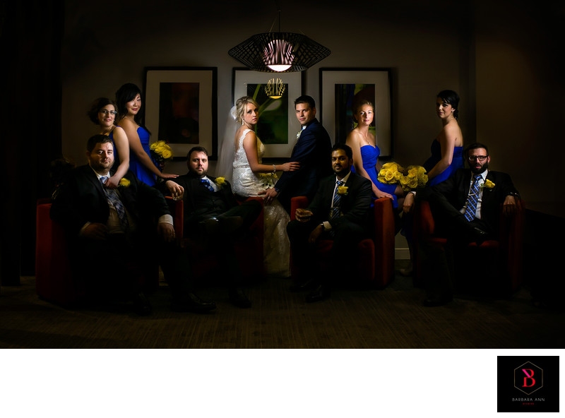 bridal party Ottawa delta city centre hotel wedding 1