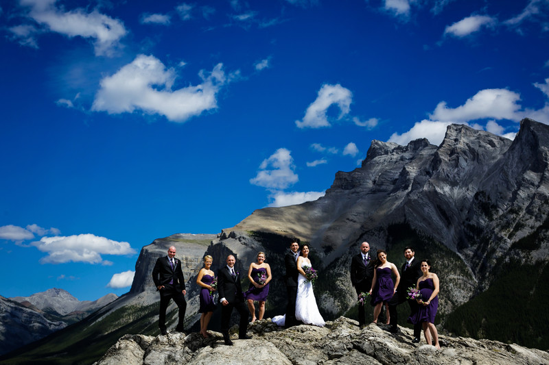 Banff Wedding tunnel mountain Mt Norquay 12