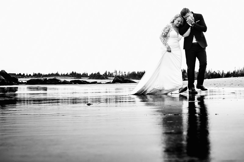 beach wedding white point beach lodge romantic 1