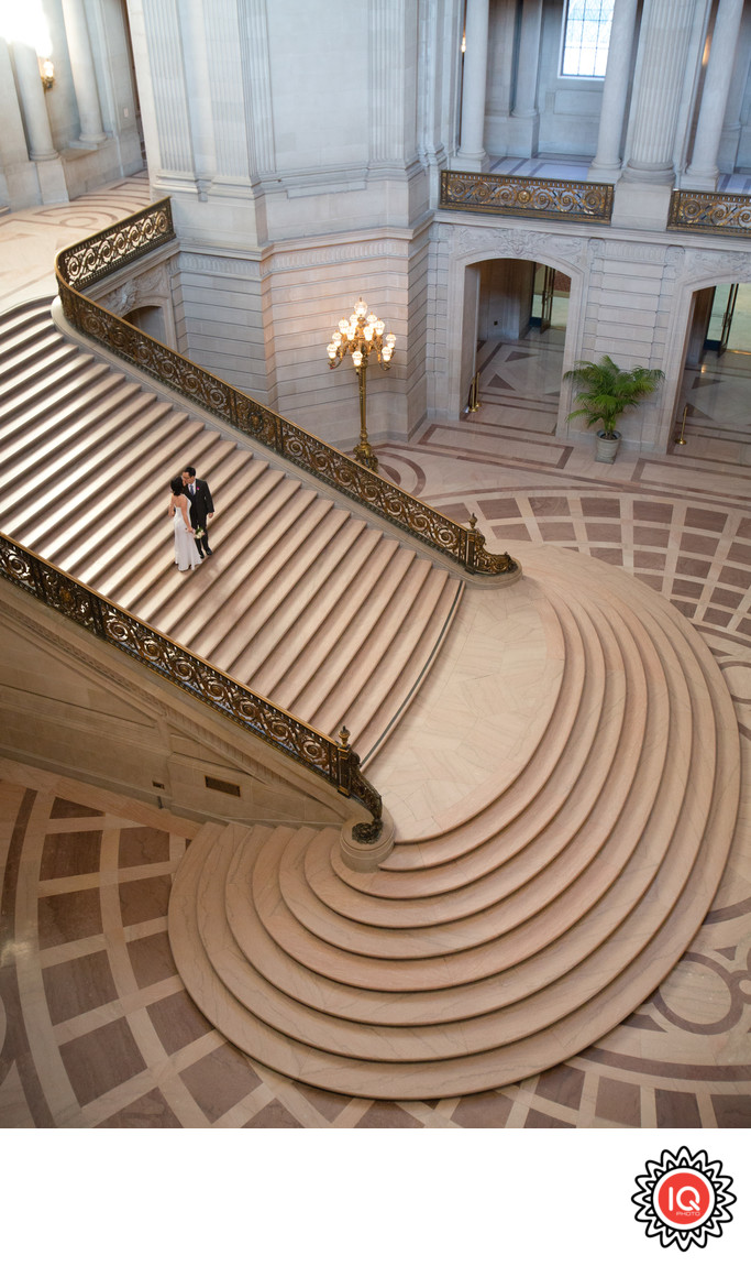 Grand Staircase Kiss