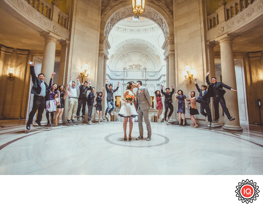 Wedding Guests at SF City Hall