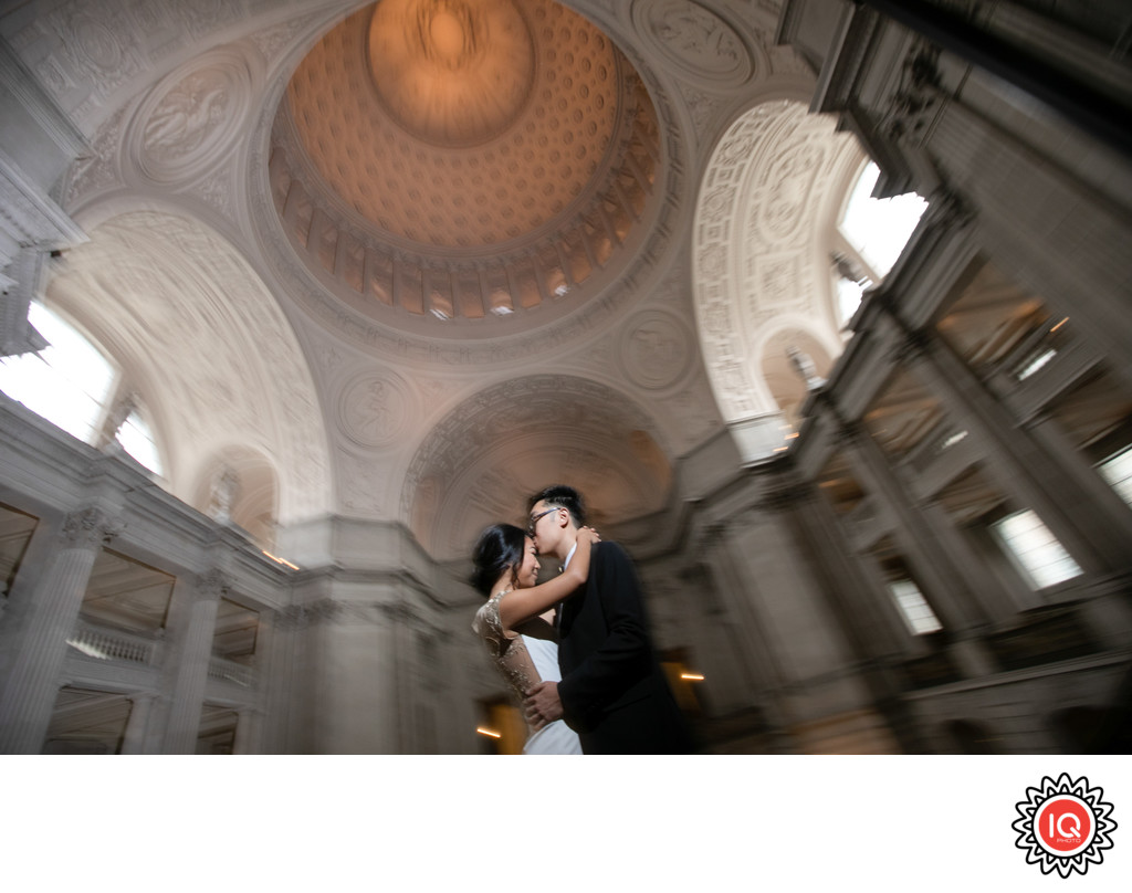 Kissing Couple at SF City Hall