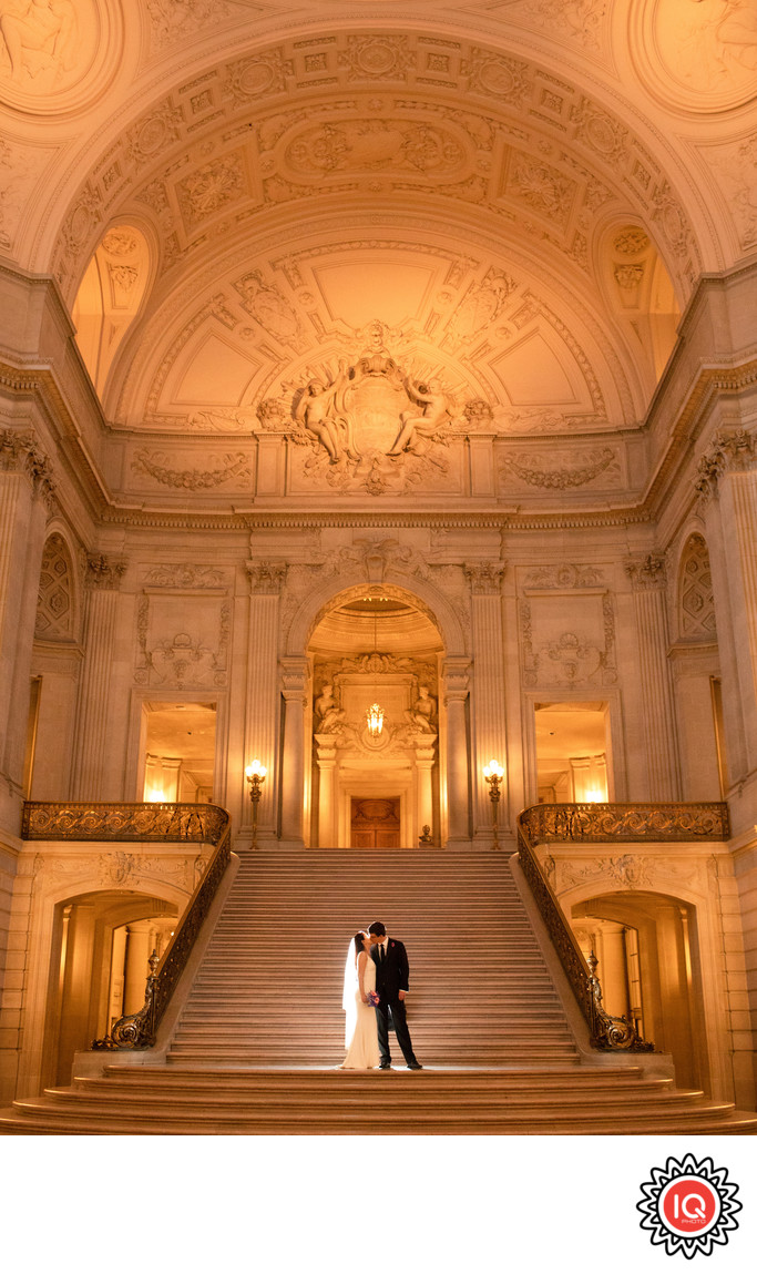Bright Grand Staircase at SF City Hall