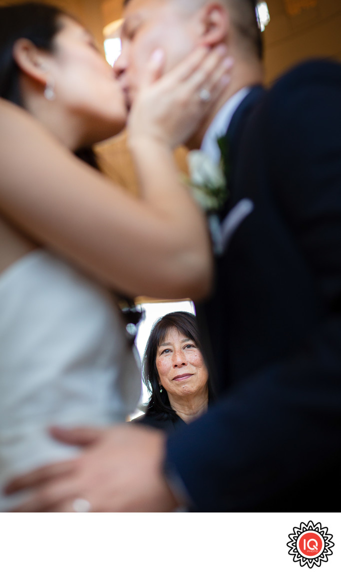 A ceremony at the rotunda - focus on an officiant