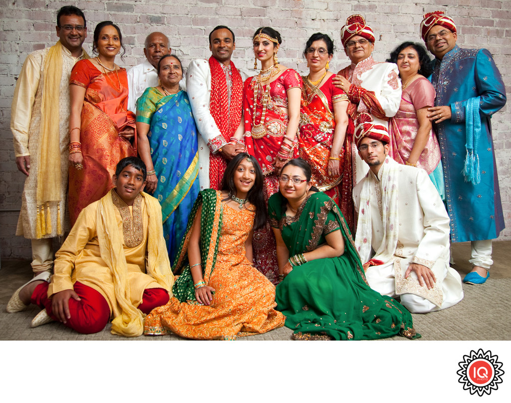 Indian Wedding Group Portrait