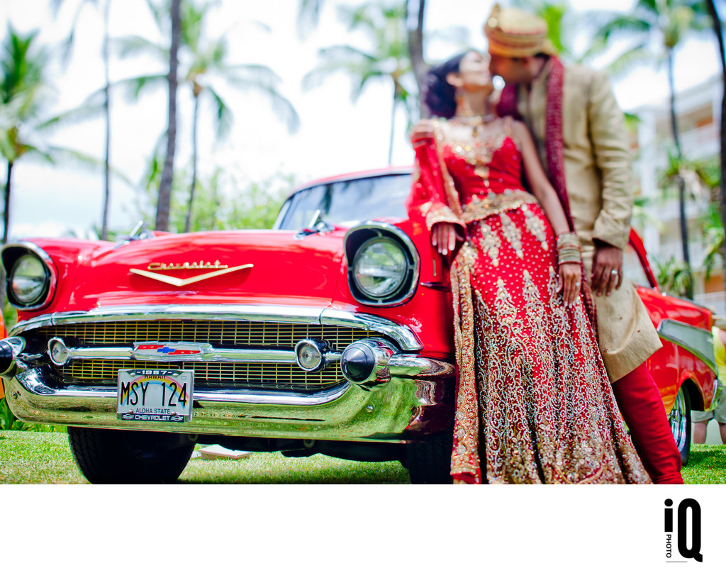 Classic Car at an Indian Wedding