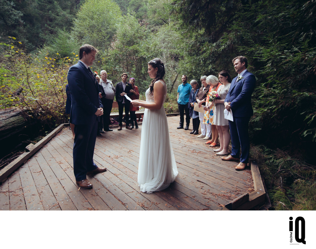 Reading Vows at Muir Woods