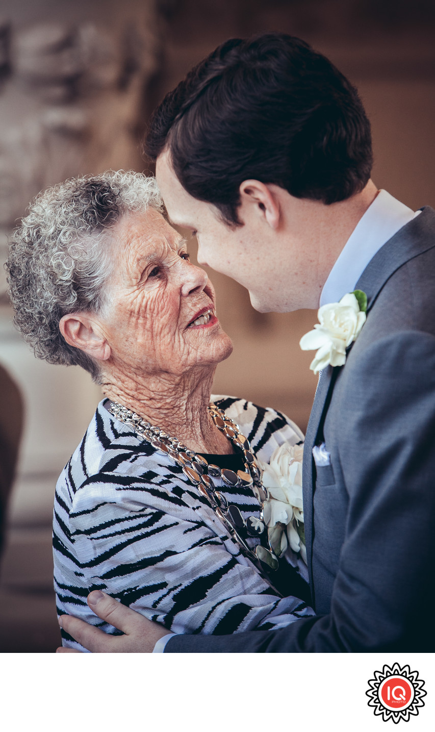 SF City Hall Groom with Grandmother