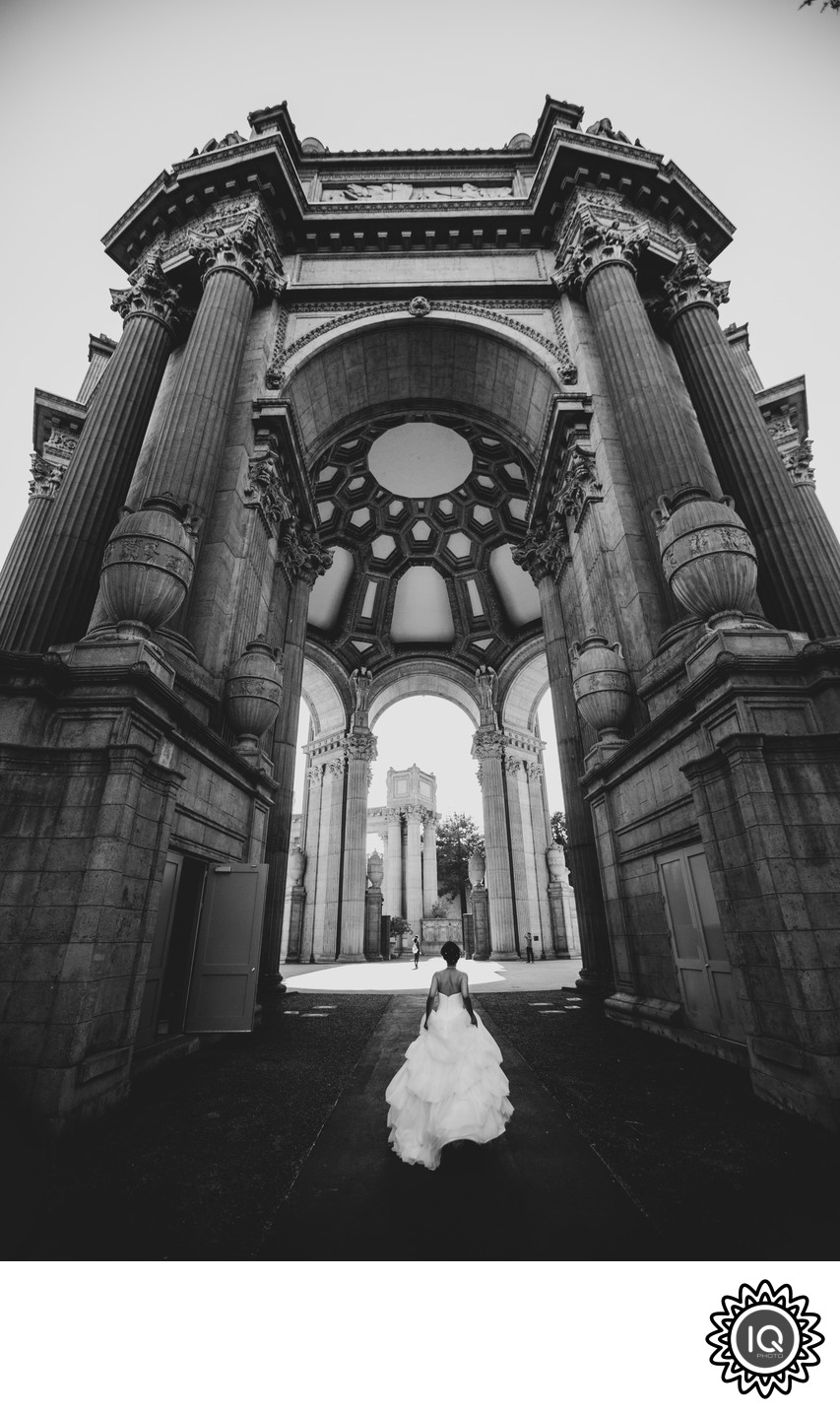 Bride at the Palace of Fine Arts
