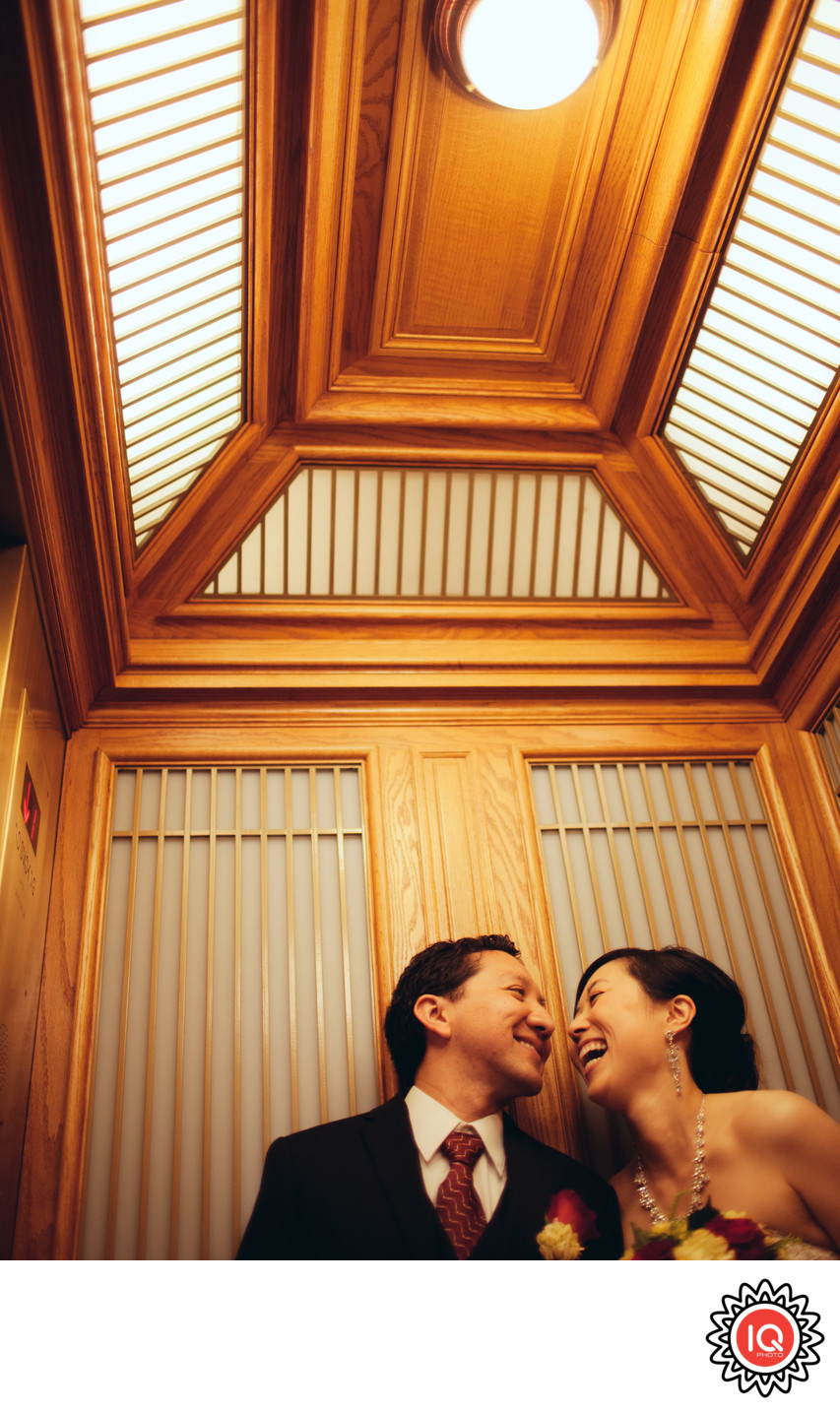 Couple in SF City Hall elevator