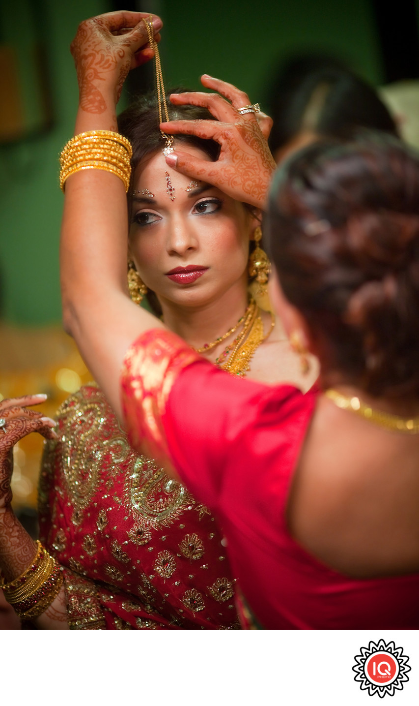 Indian Bride Preparing