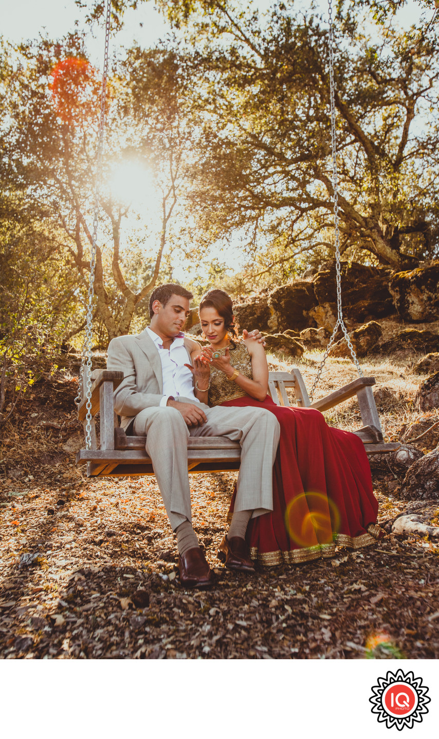Indian Couple on the Swing