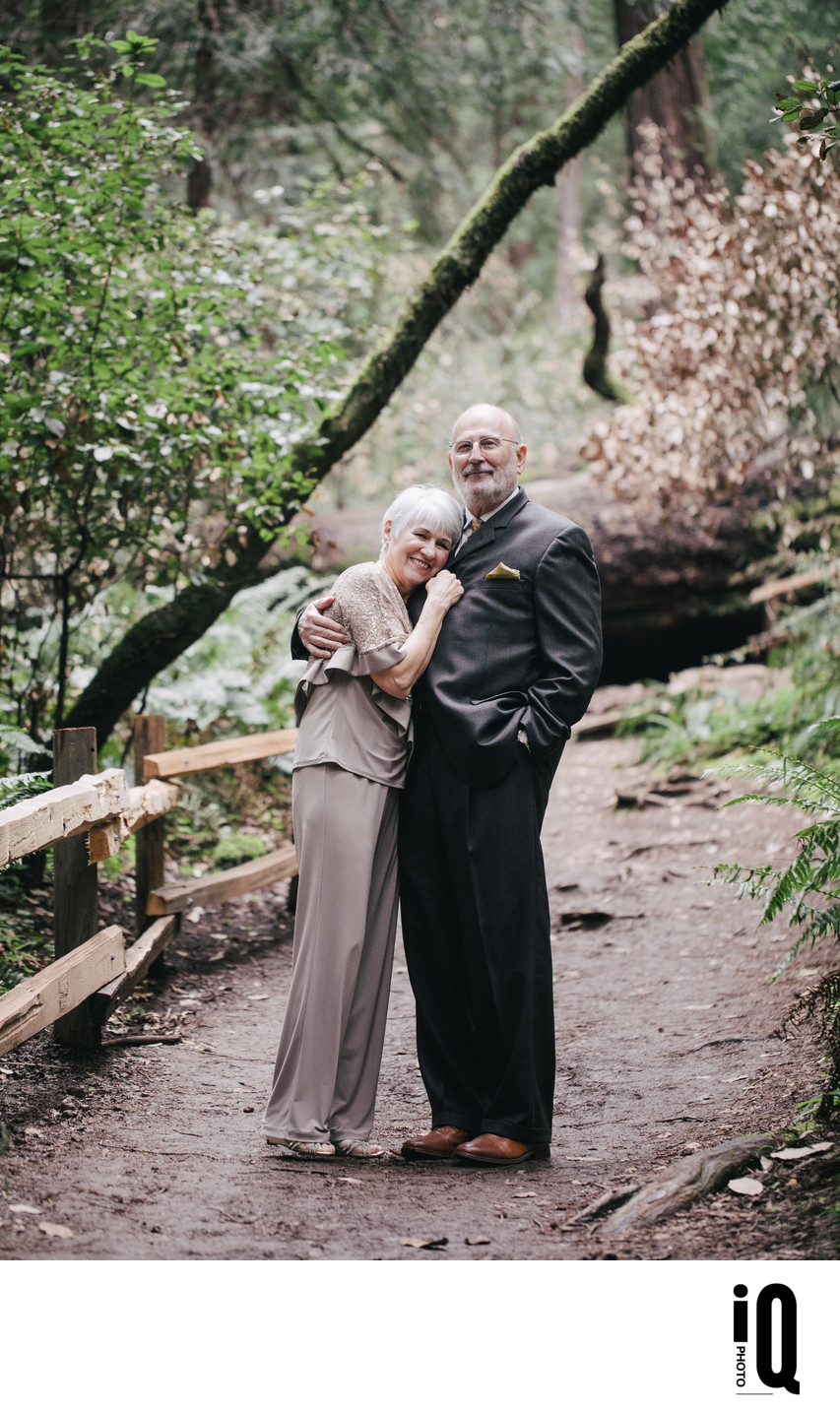 Newlyweds at Muir Woods