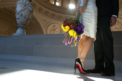 Bridal Shoes at SF City Hall