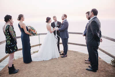 Muir Beach Overlook Wedding Ceremony