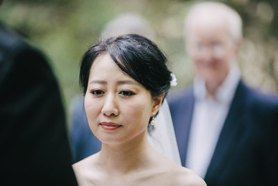 Bride at Muir Woods Ceremony