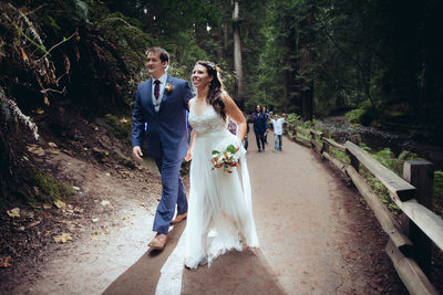 Happy Couple in Muir Woods