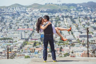 potrero hill engagement portrait