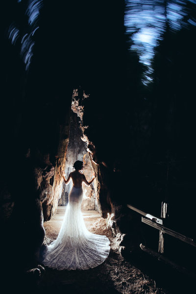 Bride at Muir Woods
