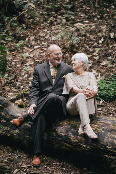 Sit Down Wedding Portrait at Muir Woods