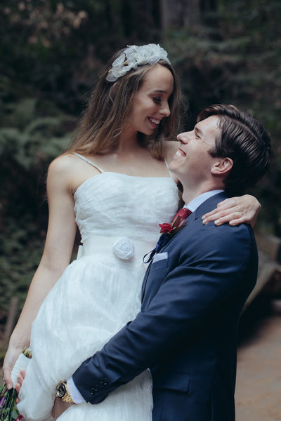 Bride and Groom at Muir Woods 2