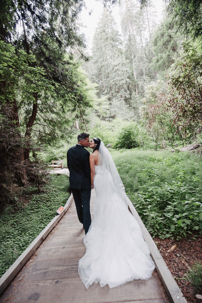 Wedding Day Kiss in Muir Woods