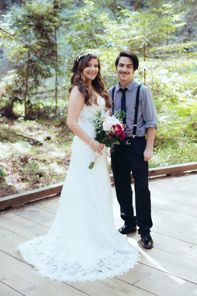 Wedding Day Portrait at Muir Woods
