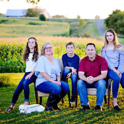 Family Portraits on the farm with Anna Epp Photography