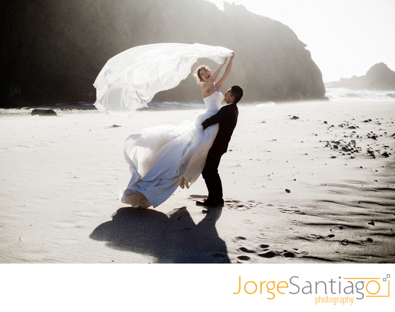 Pfeiffer Beach Wedding Photos Big Sur California