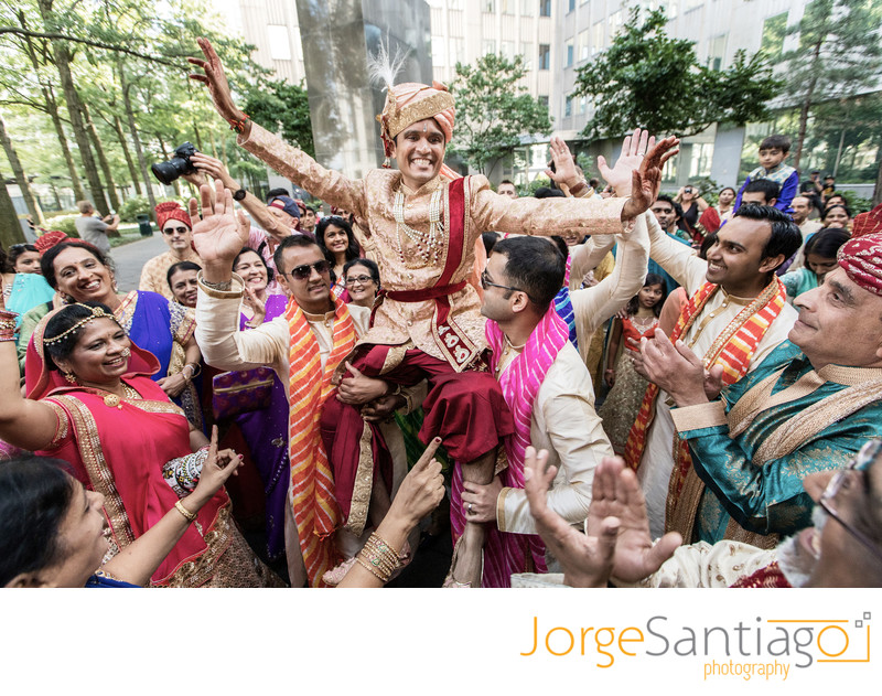 Indian Groom Baraat celebrations