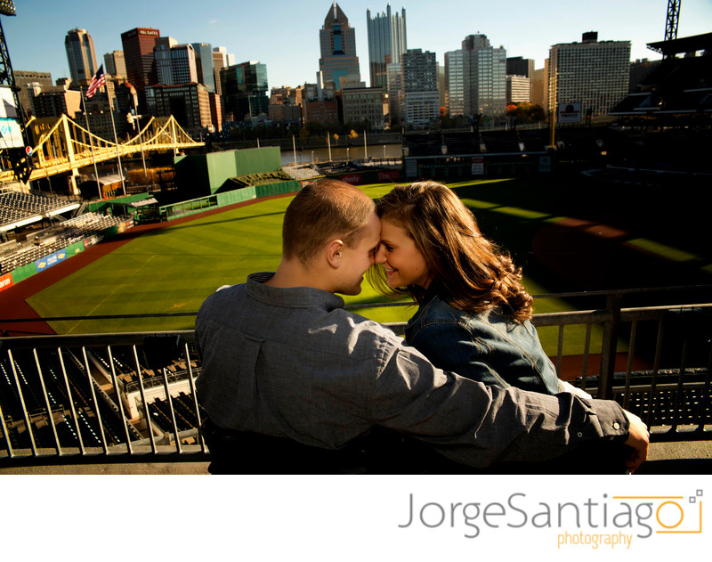 PNC Park Engagement Session Photos