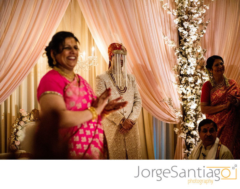 Indian wedding ceremony in the Urban Room at the Omni William Penn Hotel