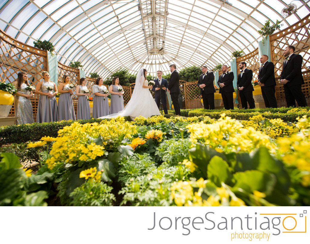 Phipps Conservatory Wedding Ceremony Photos.
