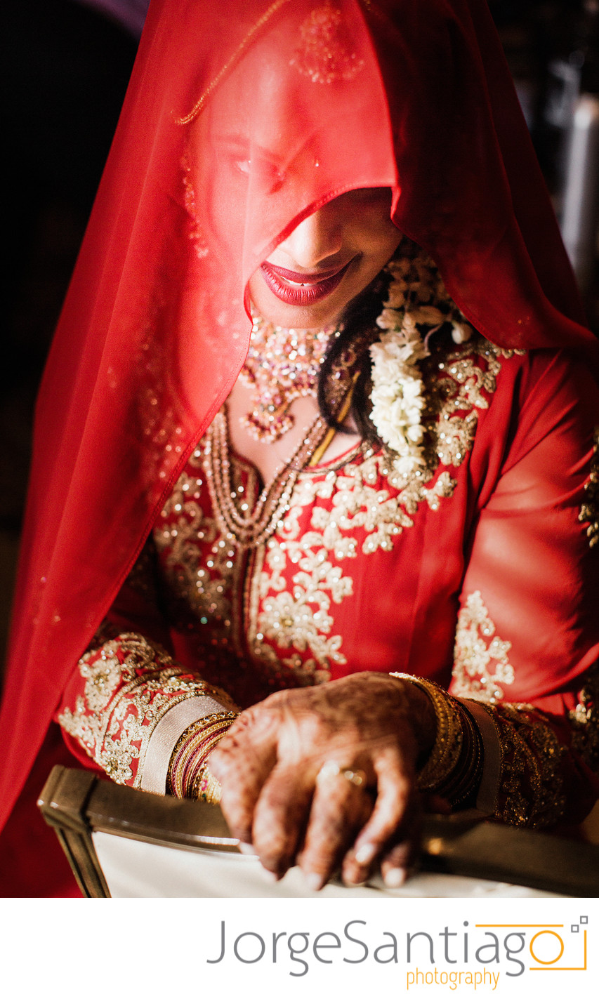 Indian bride portrait in Pittsburgh