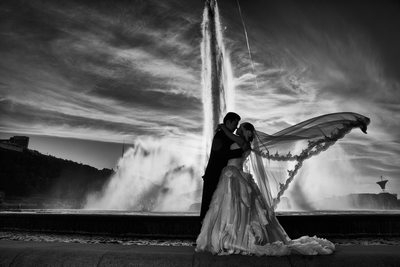 Best Wedding Photos Pittsburgh Point State Park Fountain