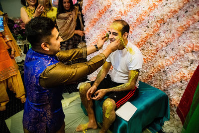 Groom's Haldi Ceremony Wedding Photos