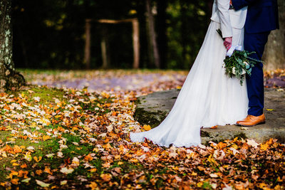Fall Wedding Photos at the Pittsburgh Botanic Garden