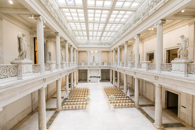 Wedding Ceremony Photos at Carnegie Hall of Sculpture