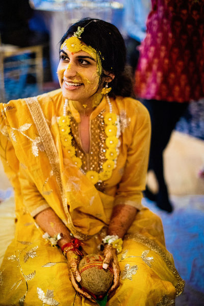 Bride's Haldi Ceremony Wedding Photos