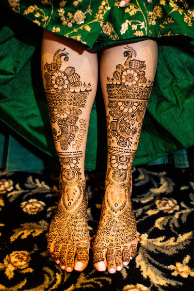 Indian bridal henna design